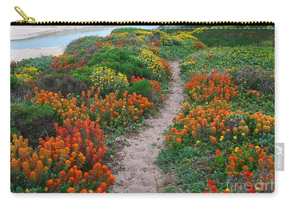 Wildflower Path At Ribera Beach Carry-all Pouch