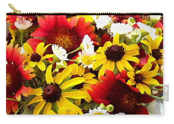 Wildflower Riot Carry-all Pouch