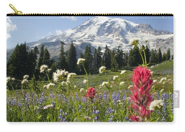 Wildflowers In Mount Rainier National Carry-all Pouch