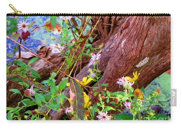 Wildflowers On A Cypress Knee Carry-all Pouch