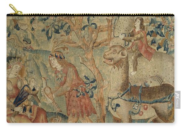 Wildmen And Animals In A Landscape Fragment, Anonymous, C. 1500 - C. 1520 Carry-all Pouch