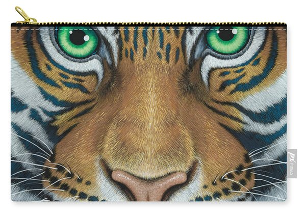 Wils Eyes Tiger Face Carry-all Pouch