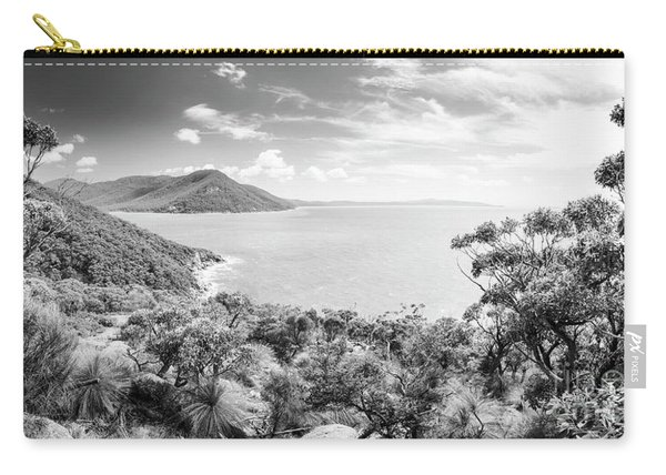 Wilsons Promontory Panorama Black And White Carry-all Pouch
