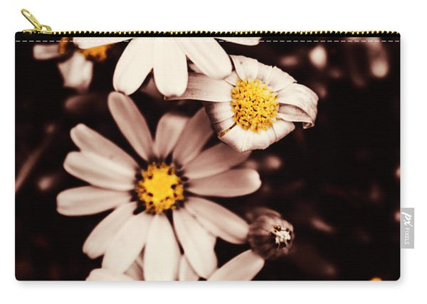 Wilting And Blooming Floral Daisies Carry-all Pouch