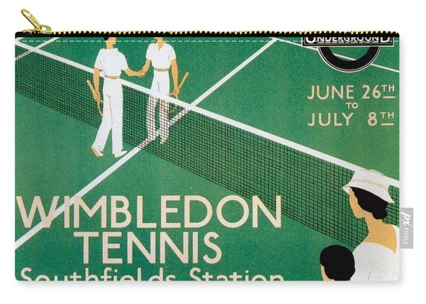 Wimbledon Tennis Southfield Station - London Underground - Retro Travel Poster - Vintage Poster Carry-all Pouch