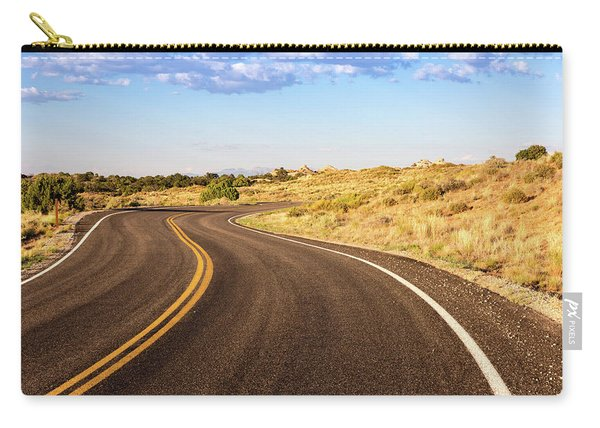 Winding Desert Road At Sunset Carry-all Pouch