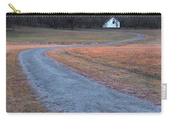 Carry-all Pouch featuring the photograph Winding Road by Tom Singleton