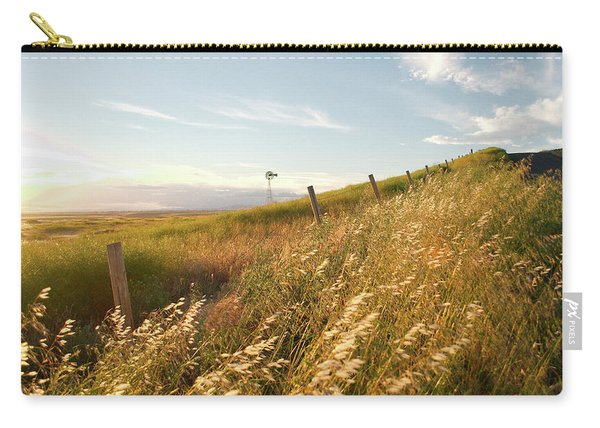 Windmill And The Fence Sundown Carry-all Pouch