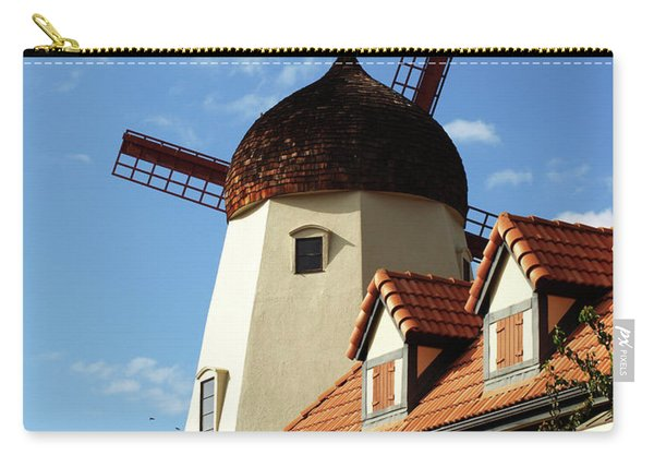 Windmill At Solvang, California Carry-all Pouch
