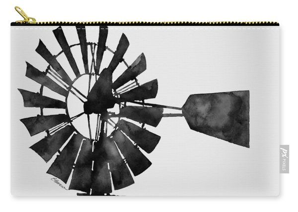 Windmill In Black And White Carry-all Pouch