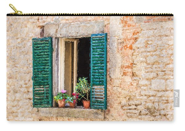 Window Flowers Of Tuscany Carry-all Pouch