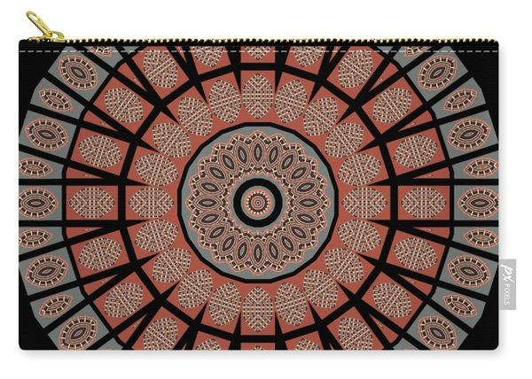 Window Mosaic - Mandala - Transparent Carry-all Pouch