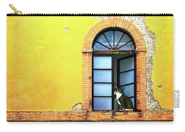 Window On Colorful Wall In Siena Italy Carry-all Pouch