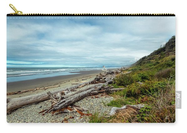 Carry-all Pouch featuring the photograph Windy Beach In Oregon by Michael Hope