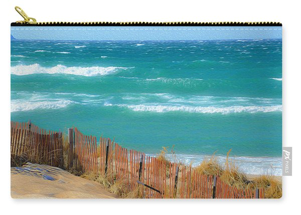 Windy Day On Lake Michigan Carry-all Pouch