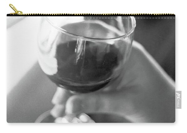 Wine In Hand Carry-all Pouch