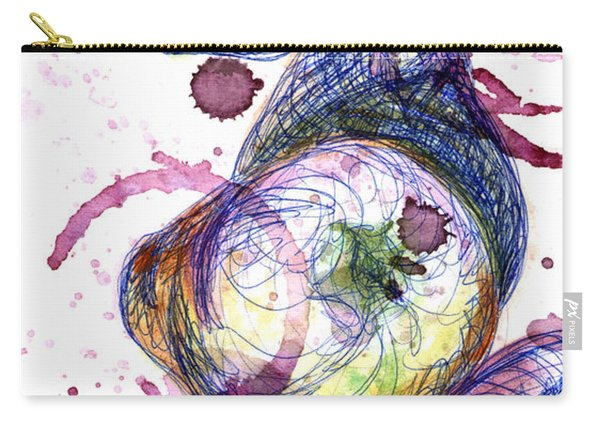 Carry-all Pouch featuring the painting Wine Pearing by Ashley Kujan