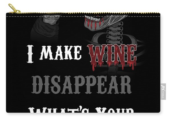 Wine Superpower Skeleton Fantasy Art Carry-all Pouch