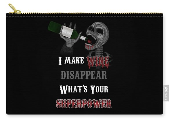 Carry-all Pouch featuring the painting Wine Superpower Skeleton Fantasy Art by Raphael Lopez