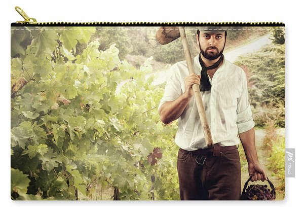 Winegrower While Harvest Grapes Carry-all Pouch