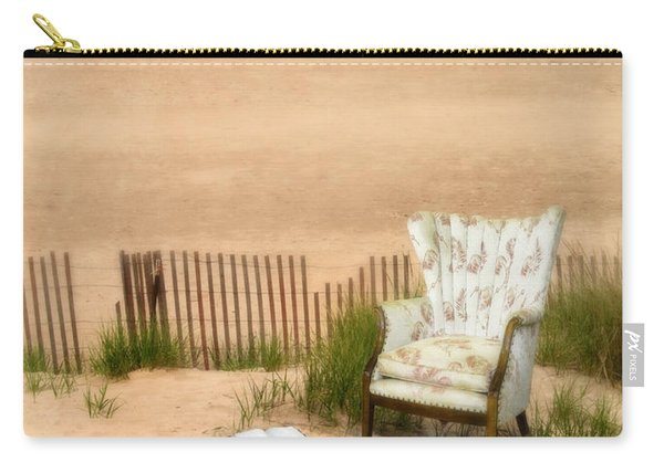 Wingback Chair At The Beach Carry-all Pouch