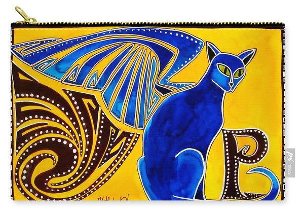 Winged Feline - Cat Art With Letter P By Dora Hathazi Mendes Carry-all Pouch