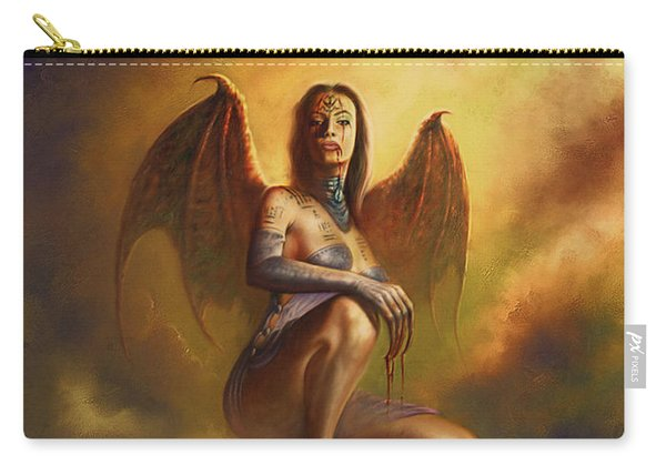 Winged Vamp Carry-all Pouch