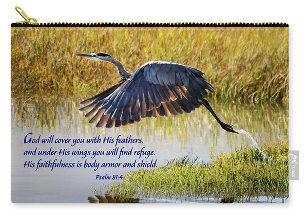 Wings Of Refuge With Scripture Carry-all Pouch