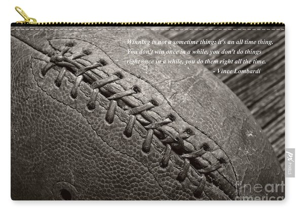 Winning Quote From Vince Lombardi Carry-all Pouch
