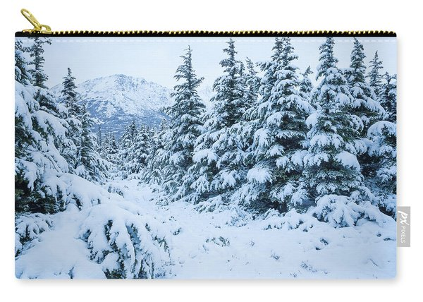 Carry-all Pouch featuring the photograph Winter Arrives by Tim Newton