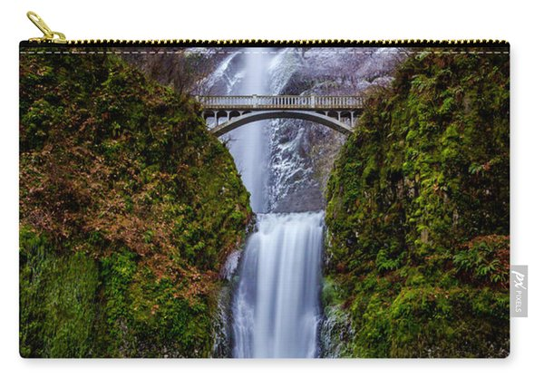 Winter At Multnomah Falls 2 Carry-all Pouch
