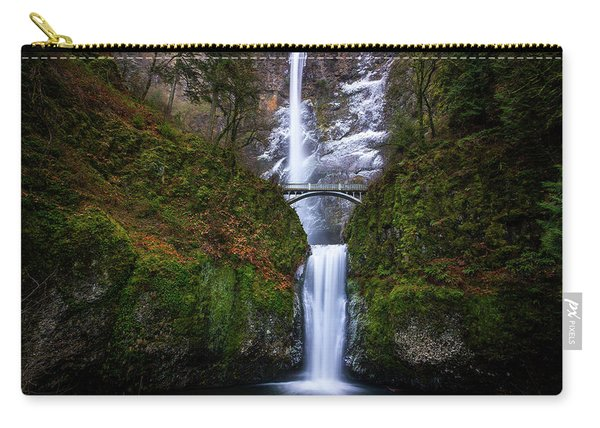 Winter At Multnomah Falls Carry-all Pouch