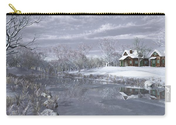 Winter At The Lake Carry-all Pouch