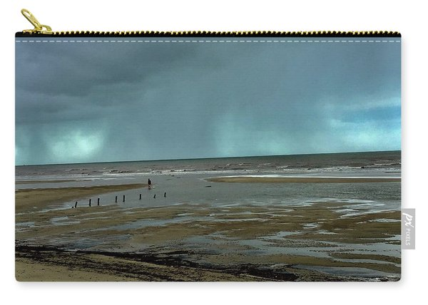 Carry-all Pouch featuring the photograph Winter Beach by Debbie Cundy