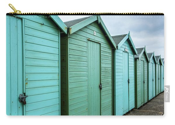 Winter Beach Huts IIi Carry-all Pouch
