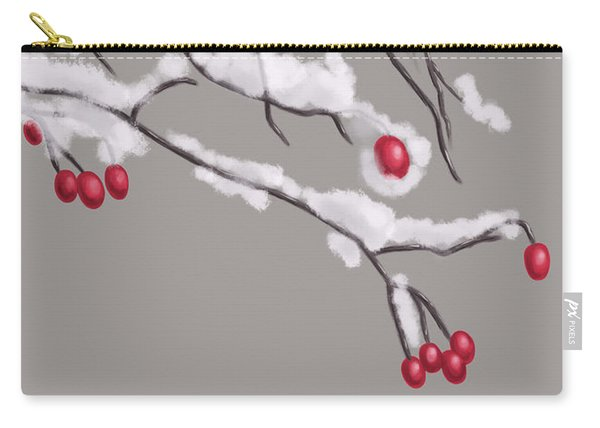 Winter Berries And Branches Covered In Snow Carry-all Pouch
