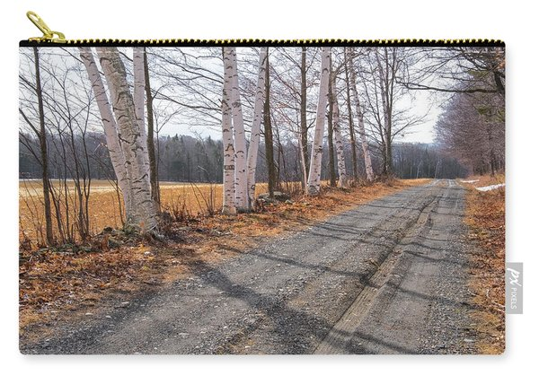 Carry-all Pouch featuring the photograph Winter Birches by Tom Singleton