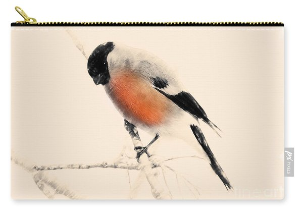 Winter Bullfinch Carry-all Pouch