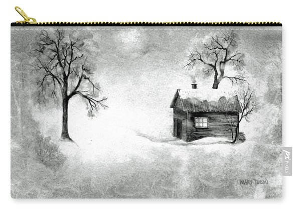 Winter Cabin Carry-all Pouch