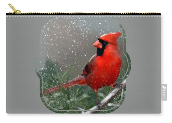 Winter Cardinal Carry-all Pouch