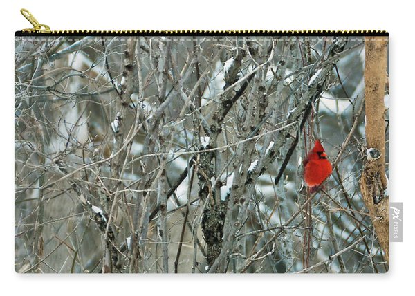 Winter Cardinals Carry-all Pouch