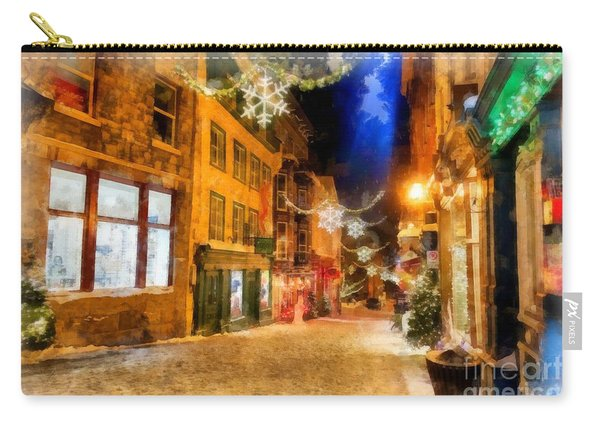 Winter Carnival Old Quebec City Lower Town Carry-all Pouch