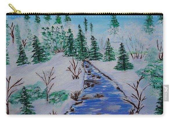 Carry-all Pouch featuring the painting Winter Calmness by Jimmy Clark