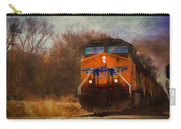 Winter Evening Union Pacific Train Carry-all Pouch