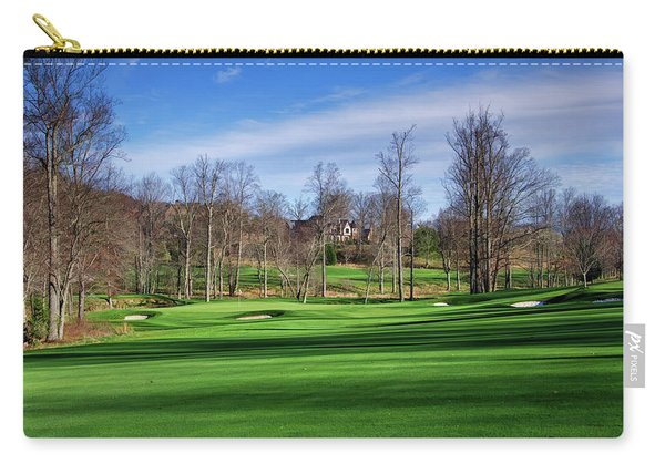 Winter Fairway Shadows Carry-all Pouch