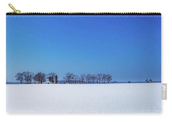Winter Farm Blue Sky Carry-all Pouch