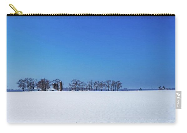 Winter Farm Blue Sky Carry-all Pouch