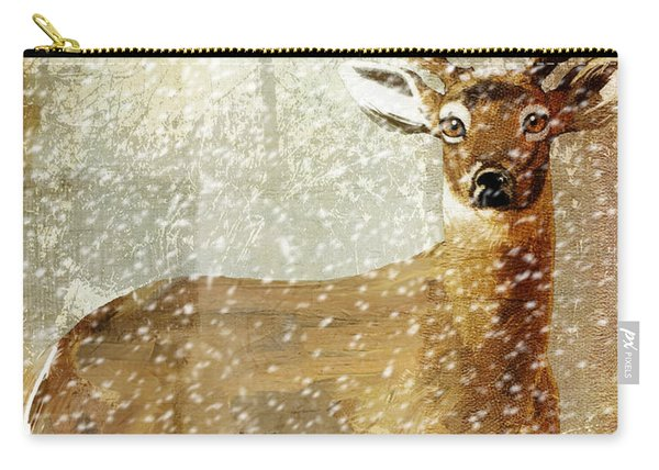 Winter Game Deer Carry-all Pouch