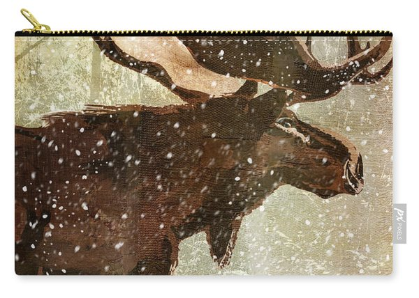 Winter Game Moose Carry-all Pouch