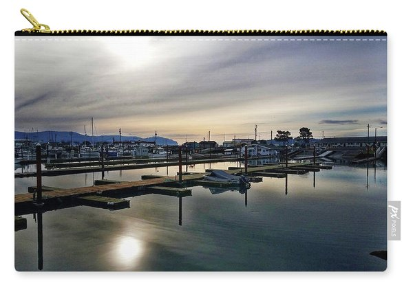 Winter Harbor Revisited #mobilephotography Carry-all Pouch